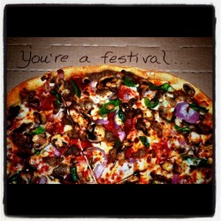 Day 71: Thin 'N Crispy Supreme pizza! A flavor festival! #pizza (Taken with instagram)