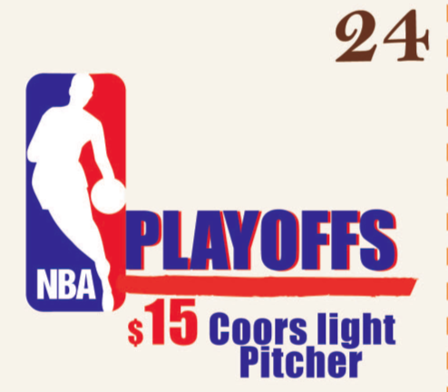 NBA PLAYOFFs !!  $15 CooRs Light Pitchers
