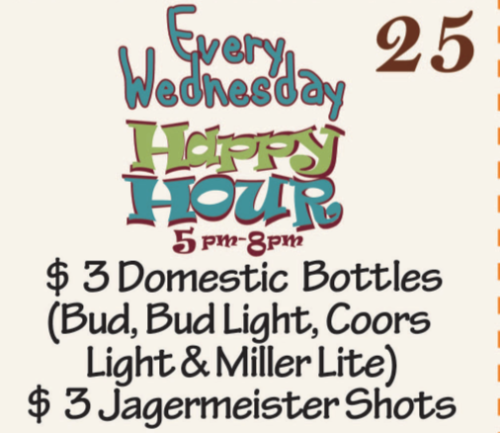 ((Happy Hour)) Wednesdays!!