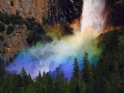 robot-heart:  IMG_8800 Rainbow and Bridalveil Falls, Yosemite National Park (by ThorsHammer94539)
