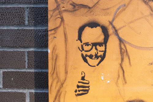 Joia! terrysdiary:  Stencil of Me on 17th Street.