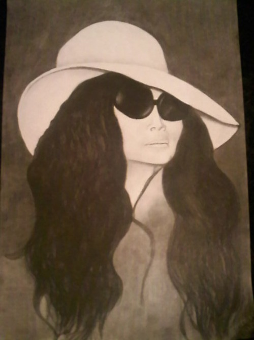 Yoko Ono Sketch Artist: AshleyMariexo Media: Charcoal on paper