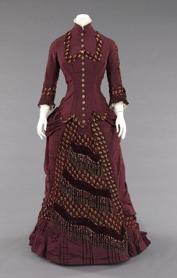 omgthatdress:  Dress ca. 1880 via The Costume Institute of the Metropolitan Museum of Art