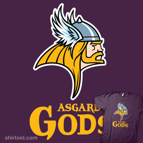 Asgard Gods Football Team available at RedBubble