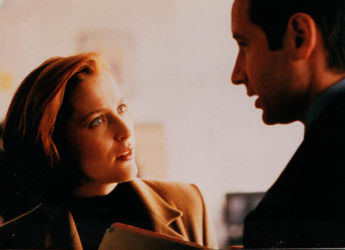 "Gillian Anderson … reprises her role as Special Agent Dana Scully in [the Playstation XF game]. It was ""extremely difficult"" to get back into character, she tells us. ""I was working on a play and very much immersed in the rehearsal process for this other character. I kept saying things like this character would, and not like Scully. So it was very frustrating. I think if I was standing next to David and could hear his voice it might've made it easier.""GA, April 2004, Playstation Magazine"