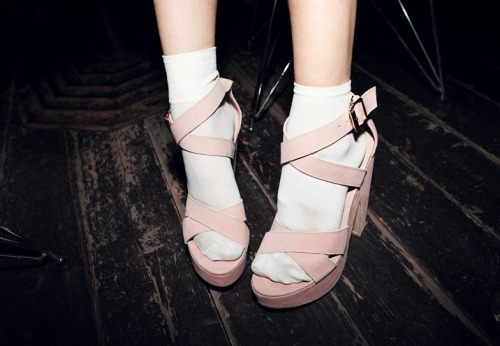 Socks and sandals = faux pas. Socks and heels = adorable.
