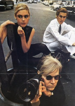 fuckyeahwarholfactory:  Andy Warhol, Edie Sedgwick & Chuck Wein  It's Tuesday. This image somehow makes that OK.