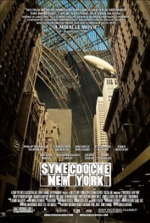 Synecdoche, New York (2008) Directed by: Charlie Kaufman Written by: Charlie Kaufman I could never remember the difference between synecdoche and metonymy, after watching this I will never get them confused again. Surprisingly I didn't enjoy this film all that much. Which is strange because I like Charlie Kaufman, and I like Phillip Seymour Hoffman, and Catherine Keener, and the idea of a play about everything, it's an admirable script, but eh. I don't know, it's a movie that requires to be watched more than once I think, which I also like that about it that it's difficult to understand, but I'm not willing to watch it again. It's one of those weird films that has a bunch of elements that would suggest I would really like it, but for some reason my natural response is that I just don't care for it. I mean I'm far from hating it and I don't feel robbed of the time that it took me to watch it. The best way to describe my feelings toward this movie would be a lukewarm ehhh. Quote: Caden Cotard: I know how to do it now. There are nearly thirteen million people in the  world. None of those people is an extra. They're all the leads of their  own stories. They have to be given their due.