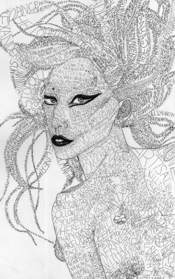 GAGA, ball point pen, 2011