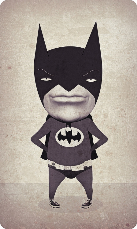 weandthecolor:  the original batman Illustration by i'm a fox. Thanks for adding your work to the WE AND THE COLOR Flickr-Group. More illustrations for your inspiration. __posted by weandthecolor // facebook // twitter