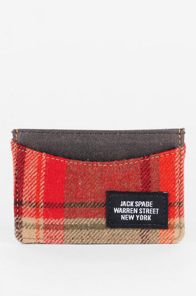 【JACK SPADE WOOLRICH PLAID CREDIT CARD HOLDER】 TOBI 有售