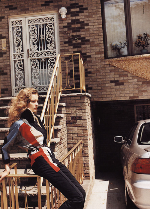 witchesandslippersandhoods:  Natalia Vodianova by Bruce Weber, Pop f/w 2002