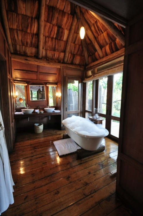 Or maybe this rustic bathroom