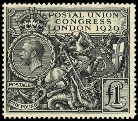 Ninth Universal Postal Union Congress, GB 10 May 1929 I would just love to own one of these … one day.