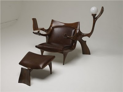Custom Lounge Chair & Ottoman Jack Rogers Hopkins