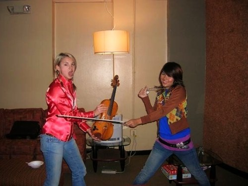 Hayley Kiyoko & Allie Gonino  A picture of when they first met. Pre-Stunners.