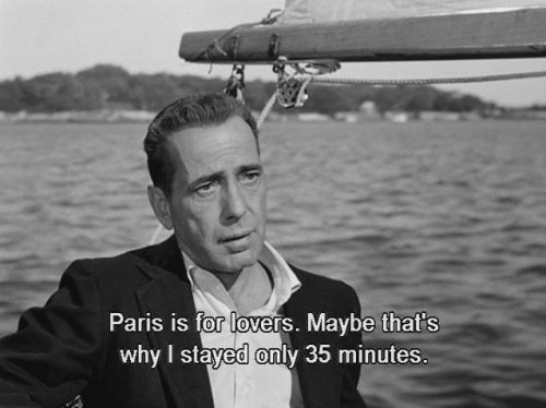 "Humphrey Bogart delivers a classic line as Linus Larrabee in ""Sabrina"""
