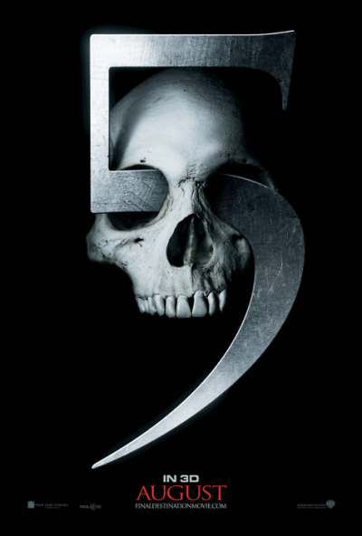 blogcore:   OFFICIAL POSTER | Final Destination 5 SYNOPSIS: Twelve years after the explosion of the flight 180, Sam Lawton (Nicholas D'Agosto) has a premonition about the bridge he is on collapsing. As the vision becomes reality, Sam manages to save himself and a few others. Though, Sam and his girlfriend Molly (Emma Bell), discover that Death is still after them and the ones who survived the gruesome accident. RELEASE DATE(S): Canada 12 August 2011 USA 12 August 2011 Malaysia 25 August 2011 UK 26 August 2011 France 31 August 2011 Netherlands 1 September 2011 Italy 16 September 2011 Australia 13 October 2011