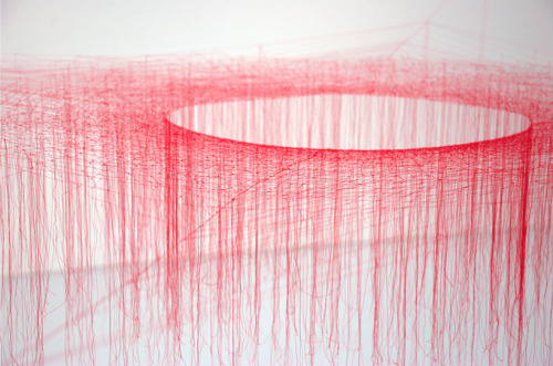 archiphile:  installation: silk vortex by Akiko Ikeuchi displayed on archiphile | facebook | twitter
