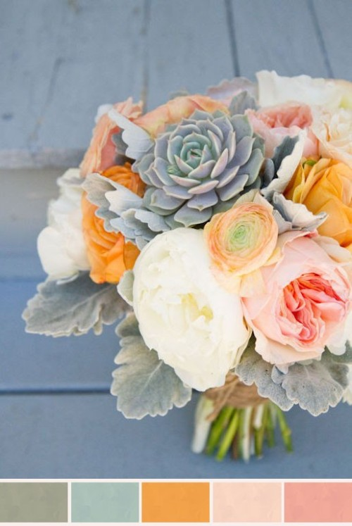 drooling over this color palette  right now. oh, and gorgeous bouquet!