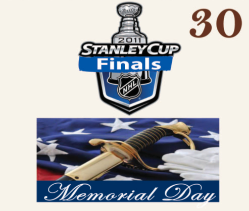 NHL ((Stanley Cup Finals)) . Happy Memorial Day !!