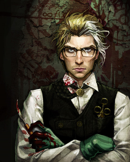 adeptasororitas:  A steampunk Sweeney that looks like Vincent from SH?!  Where's my bib?! ;P More here: http://www.forevergeek.com/2011/04/steampunk-mashups/  Don't know who the artist is - but they should take a bow. Interesting rendition our good friend Sweeney