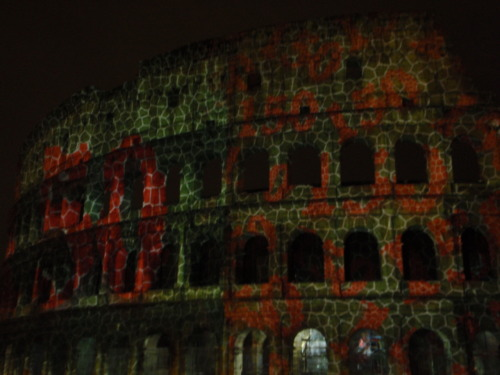 The Colosseum on the 150th anniversary of Italy's unification.