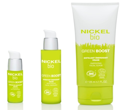NICKEL Skincare has done it again!   With a growing demand for greener products, Nickel's response is Bio Green Boost. One of the few Ecocert brands for men, Bio Green Boost is enhanced with organic soothing Aloe Vera, organic Bamboo extract and Flax Seed Oil, rich in Omega 3 fatty acids. All these fine ingredients will protect a man's sensitive skin. The trio of products consists of a Cleanser with bamboo scrubbing particles, Daily Concentrate and Eye Cream.   Available at MensGroomingLounge.com