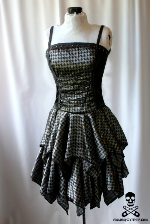 Casting Shadows Everywhere houndstooth gown by SmarmyClothes.com