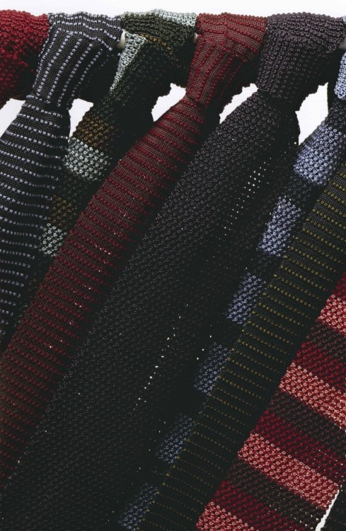 aneapolitandream:  Gallo Spring Summer 2011 Silk Knit Ties!