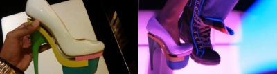 nicki minaj's versace DVEA pumps on super bass