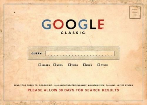 How great is this? Classic Google Search