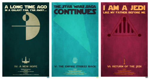 Star Wars Minimalist Posters - by Jon E. Allen Website || deviantART Prints available at Etsy.  via: tiefighters