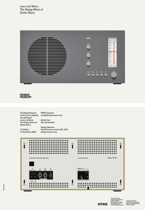 (via Less and More: Dieter Rams | Bibliothèque Design)