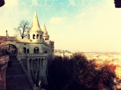 The Fishermen's Bastion in Budapest, Hungary