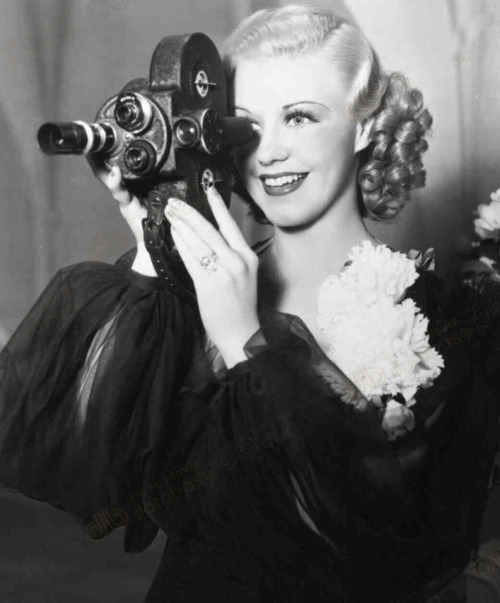 Ginger Rogers filming