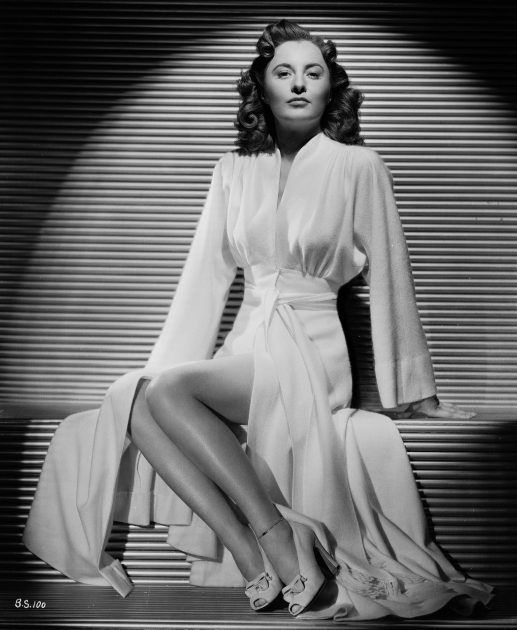 "pickurselfup:  Barbara Stanwyck  Her gams!  Her magical gams that were actually short-ish with slightly thick ankles, but holy moly did she know how to pose them, work 'em.  Whether it was a ""tripping introduction"" to Henry Fonda (The Lady Eve), asking Gary Cooper to check out how icy they were (Ball of Fire), or cautioning Fred MacMurray that he was ignoring the local ""speed limit"" (Double Indemnity), Miss Stanwyck wove magic with her wondrous wands."