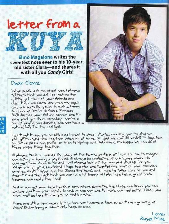 i'm not a fan until I read this… sweet kuya! :)