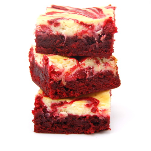 want. nomnomism:  Red Velvet Cheesecake Brownies
