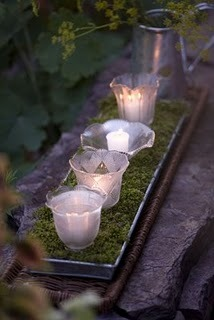 Chandelier Globes as Votive Candles
