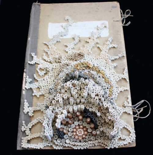 (Beware, people with trypophobia!) blankbook:  (via Nava Lubelski turns tax returns and rejection letters into organic paper sculptures | Colossal)