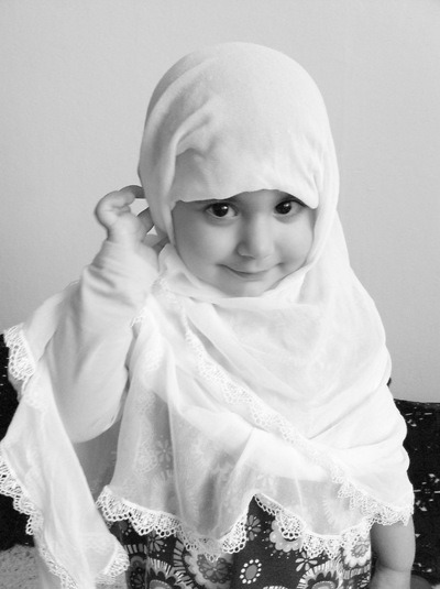 Little girl with hijab. She's so cute :-)