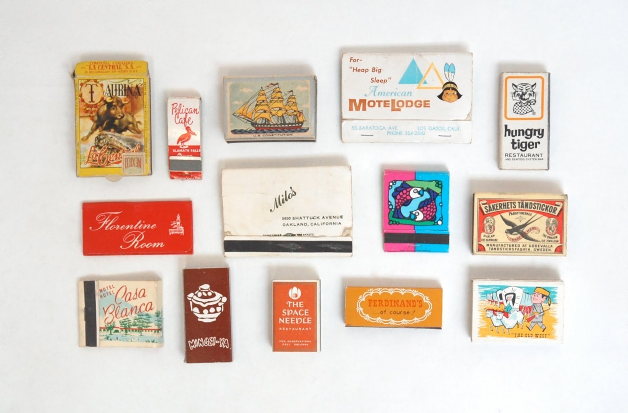 vintage matchboxes (via A Collection a Day, 2010)