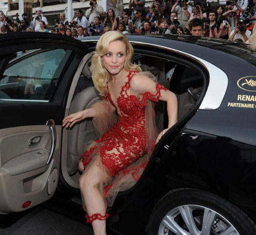 lucire:  Red on the red carpet Rachel McAdams arrives for the première of Midnight in Paris, at the Festival de Cannes, May 11. Full story and videos here.  Glamming up Cannes It was my idea to put this image on the Lucire Tumblr—Rachel McAdams wows the crowds at Cannes.