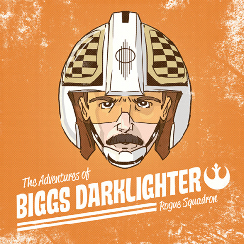 "Biggs Darklighter may have perished during the Battle of Yavin, but he lives on in Adam Limbert's new piece created for Planet-Pulp's ""Star Wars"" theme. Related Rampages: Unlikely Jedi 