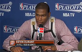 sbnation:  Kevin Durant Reveals Contents Of Backpack, Ending Greatest Mystery Since Final 'Sopranos' Episode