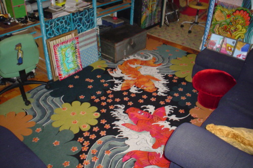 Jennie, New York City - Custom Koi Fish Rug