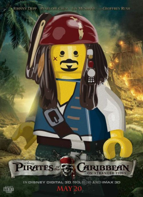 Pirates of the Caribbean - Lego Movie Poster by nextmovie. More poster design inspiration. __posted by weandthecolor // facebook // twitter