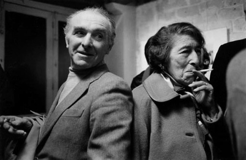 Robert Doisneau and Gisèle Freund at Galerie Agathe Gaillard, Paris, 1980 -nd from lesPHOTOGRAPHES.com