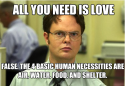 Dwight says it like it is.